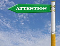 Attention road sgin
