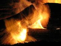 Christmas Yule Log Fire