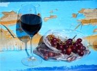 Red wine in Jaffa Marina (old boat)