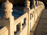 The marble bridge railing