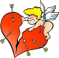 Illustration of an Angry Amor Angel Boy