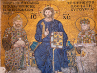 Mosaic image of Jesus Christ