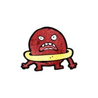 cartoon angry planet