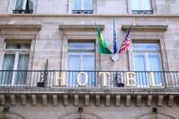 External detail of hotel in Paris, France
