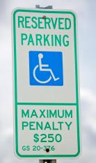 Reserved Handicapped Parking Sign