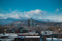 Snowy Montreal in Sunny day