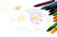 multicolor pencils and primitive picture