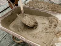Wheelbarrow with cement