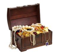 open pirate treasure chest