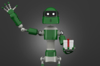 Robot with gift box