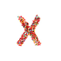 candy alphabet font