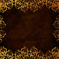 Textured brown background paper with gold swirls XLarge