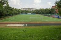 Backyard soccer field, Moscow, Russia