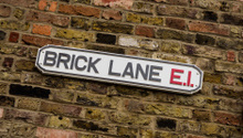 Sign for Brick Lane in London