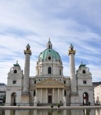 Wien, Vienna, Vindobona, Karlsplatz, Europe, Osterreich, Karlski
