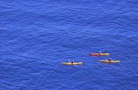 Rowers on a Calm Sea