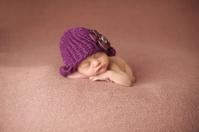 Newborn Girl in Knit hat