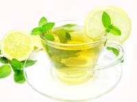 herbal tea with lemon fruit