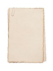 paper vintage parchment on white