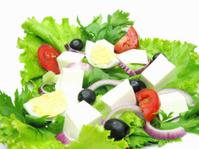 greek salad vegetarian meal food