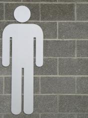 men washroom sign