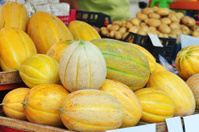 Melons on the farm stand