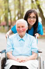 Kind Nurse and Elderly Lady
