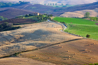 Tuscan country at sunset