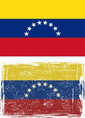 Venezuelan grunge flag