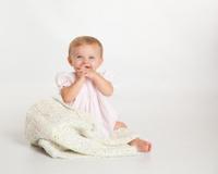 Happy Beautiful Blue Eyed Baby Girl