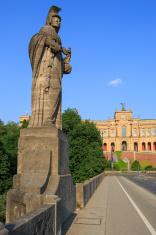 "Bavarian State Parliament ""Maximilianeum"" in the evening sun"