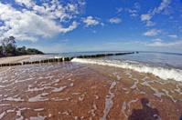 breakwater and beach
