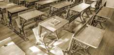 Student Desks and Sunlight
