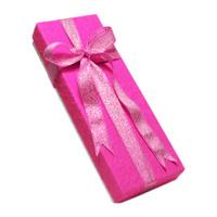 Gift box and pink ribbon