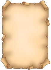 Old torn parchment