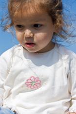 Little girl looking down