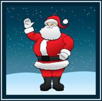 Santa Claus in Snow