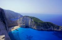 shipwreck beach at Zakynthos island