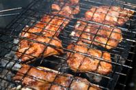 ribs fried on fire
