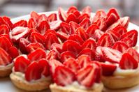 Fresh and tasty strawberry tarts