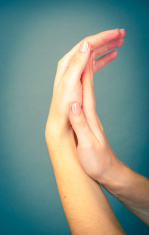 female hand isolated