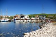 Small sea shipyard and harbor, ship repair, Croatia Dalmatia