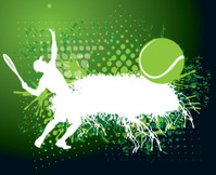 Tennis Grunge Background - Mens