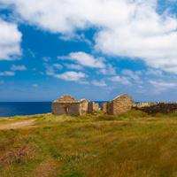 abandoned old shellfish farm