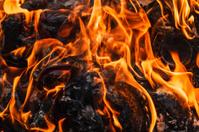 Rubbish burn close up
