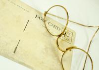 Vintage Postcard and Glasses