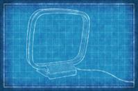 Radio AM antenna - Blue Print