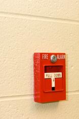 Bright Red Fire Alarm