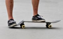 broken skateboard
