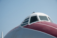 Cockpit of scrapped airliner